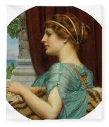 Pompeian Lady Fleece Blanket