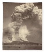 Pompeii: Mount Vesuvius Fleece Blanket