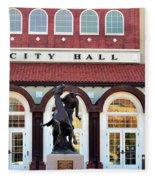 Ponca City City Hall Fleece Blanket