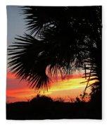 Ponce Inlet Florida Sunset Fleece Blanket