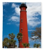 Ponce Inlet Lighthouse Fleece Blanket