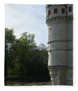Pond At Azay Le Rideau Fleece Blanket