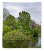 Pond At Buckingham Palace London Fleece Blanket