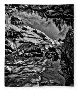 Pond At Great Falls #4 Fleece Blanket