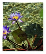 Pond Florals Fleece Blanket