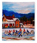 Pond Hockey Fleece Blanket