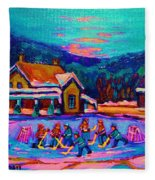 Pond Hockey Two Fleece Blanket