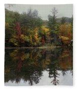 Pond In Jackson Fleece Blanket