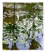 Pond In Marrakesh Fleece Blanket