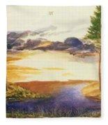 Pond In The Wood Fleece Blanket