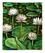 Pond Of Petals Fleece Blanket