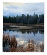 Pond On The Pend Orielle Fleece Blanket