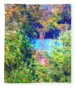 Pond Overlook Fleece Blanket