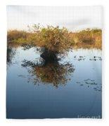 Pond Reflection Fleece Blanket