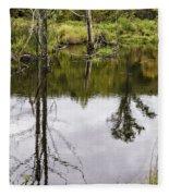Pond Reflections Fleece Blanket