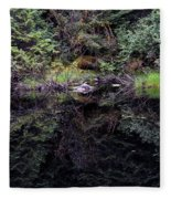 Pond Reflections -- Tongass National Forest Alaska Fleece Blanket