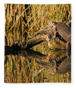 Pond Turtles Fleece Blanket