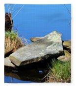 Pondside Stone Fleece Blanket