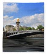 Pont Alexandre IIi Fleece Blanket