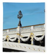 Pont Alexandre IIi - Paris, France Fleece Blanket