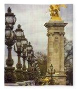 Pont Alexandre IIi Paris Fleece Blanket