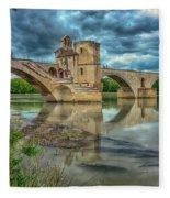 Pont D'avignon France_dsc6031_16 Fleece Blanket