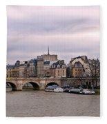 Pont Neuf In Paris Fleece Blanket