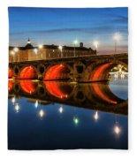 Pont Neuf In Toulouse Fleece Blanket