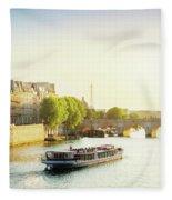 Pont Neuf In Sunset Light Fleece Blanket