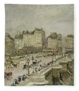 Pont Neuf Snow Effect Fleece Blanket
