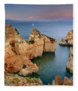 Ponta Da Piedade Stairs Fleece Blanket