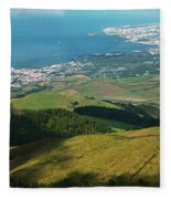 Ponta Delgada And Lagoa Fleece Blanket