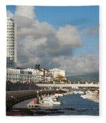 Ponta Delgada Waterfront Fleece Blanket