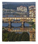 Ponte Vecchio - Florence Fleece Blanket
