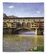 Ponte Vecchio Fleece Blanket