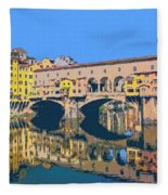 Ponte Vecchio Florence Fleece Blanket