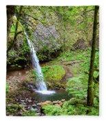 Ponytail Falls, Oregon Fleece Blanket