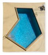 Pool Modern Fleece Blanket