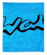 Pool Mural For Walts Pizza Marion Il Fleece Blanket