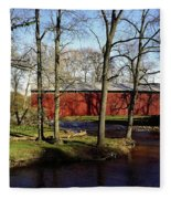Poole Forge Covered Bridge Fleece Blanket