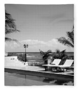 Poolside B-w Fleece Blanket
