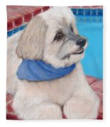 Poolside Puppy Fleece Blanket
