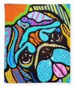 Pooped Pup Fleece Blanket