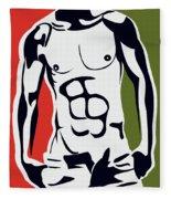 Pop Art Body  Fleece Blanket