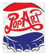 Pop Art Bottle Cap Fleece Blanket