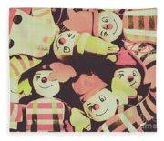 Pop Art Clown Circus Fleece Blanket