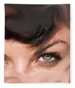 Pop Art Eyes Fleece Blanket