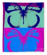 Pop Art Morphosis Fleece Blanket