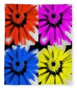 Pop Art Petals Fleece Blanket