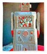 Pop Art Robot R-1 Fleece Blanket